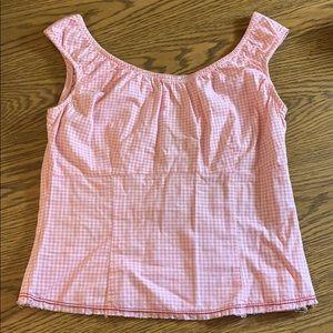 RARE NWOT Juicy Couture Vintage Pink Gingham Top